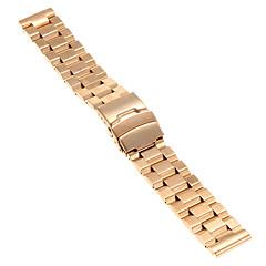 20mm hoge kwaliteit rose goud precieze roestvrij staal horlogeband