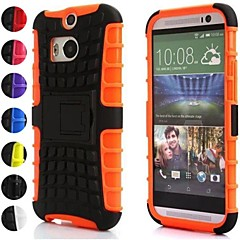 Two-in-One Tire Grain Design PC and Silicone Case for HTC M8 (Assorted Colors)