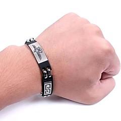 European Eagle 20cm Men's Titanium Steel ID Bracelet(Black)(1 Pc)