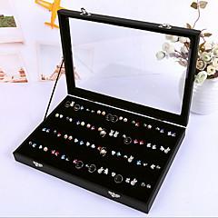 pendientes estenopeicas clásicos cubierta del soporte de papel negro franela acrílico cajas de joyas (1 pc)