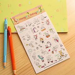 küçük tavşan günlüğü sticker (6 adet)