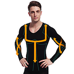 mies laihtumiseen lämpökerrasto paita pitkähihainen body muotoilija yritys maha vatsa nurin nylon musta ny102