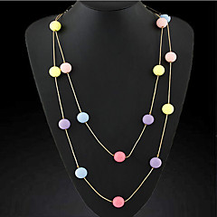 Eourpean Style Multicolor Beads Chain Necklace