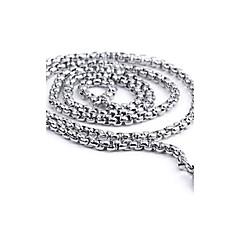 Erkek Zincir Kolyeler Kolye Paslanmaz Çelik minimalist tarzı Moda Gümüş Mücevher Için 1pc