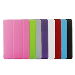 Folding Stand Leather Slim Smart and Crystal Transparent Hard Back Case Cover for iPad 2/3/4(Assorted Colors)