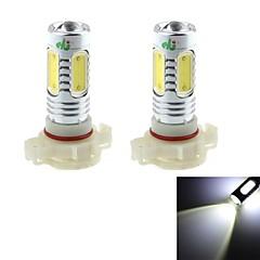 hj h16 7.5W 700lm 6000-6500k 5 * bulbo cob para foglight carro luz branca (12-24, 2pcs)