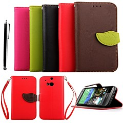 KARZEA™ Leaf Mixed Colors TPU Leather Full Body With Stand and Stylus for HTC One(M8) (Assorted Colors)