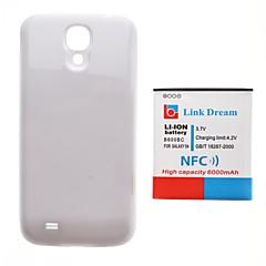 삼성 갤럭시 S4 i9500 (6000mah)에 대한 NFC + 흰색 다시 커버 링크 꿈 두꺼워 휴대 전화 배터리