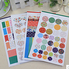 rillen dot streep diy scrapbooking stickers (4 stuks)