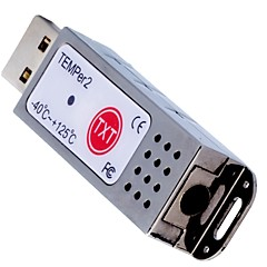 pcsensor®new à double thermomètre à sonde de température pour pc médicament salle magasin / informatique / usine / supermarché temper2