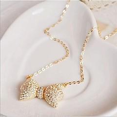 Love Is Your Fashion Beautiful Full Bow Drill Collar Bone Chain