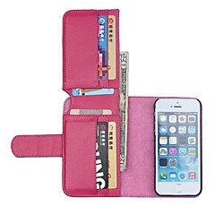 NEW Color Leather Wallet Full Body Cases with Stand for iPhone 5/5S(Assorted Colors)