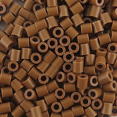 kb 500db / csomag 5mm kávé biztosíték gyöngyök hama gyöngyök DIY kirakós EVA anyagból safty gyerekeknek kézműves