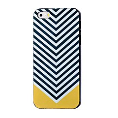 For iPhone 7 etui iPhone 7 Plus etui iPhone 6 etui iPhone 6 Plus etui iPhone 5 etui Mønster Etui Bagcover Etui Linjeret / bølget Hårdt PC