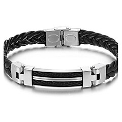 Z&X®  Man's Fashion Personality Weaving Shape Leather Bracelet