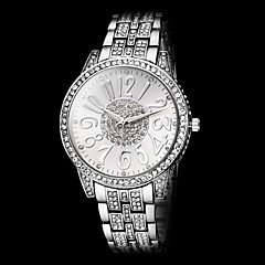 Women's Saucy Numeral Dial Diamond Steel Band Quartz Wrist Watch (Assorted Colors)