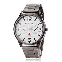 JUBAOLI Мужской Нарядные часы Кварцевый Нержавеющая сталь Группа Серебристый металл Золотистый