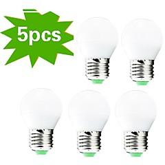 6W E26/E27 LED-globepærer G45 27 SMD 3022 400 lm Varm hvid Dekorativ Vekselstrøm 220-240 V 5 stk.