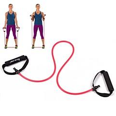 Red Tube Elastic String Sliming Fitness Yoga Resistance Bands Fitness