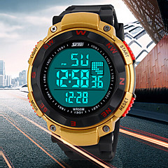 Men's Multifunctional Digital LCD Rubber Band Sporty Wrist Watch (Assorted Colors) Cool Watch Unique Watch