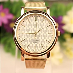 Women's Casual Style Gold Stainless Steel Band Quartz Analog Wrist Watch