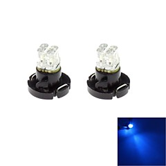 T4.2 2 LED 0.5W 20lm Blue Light Bulb for Car Dash Board Cluster Gauges Instrument Lamp(DC 12V , 2-Pack)