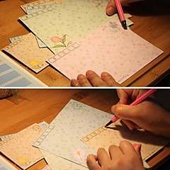 enveloppe coeur doux de langage des fleurs (10 pcs petit)