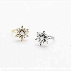 Oor manchetten PERSGepersonaliseerd Strass Legering Sneeuwvlok Zilver Gouden Sieraden Voor Bruiloft Feest Dagelijks Causaal