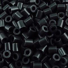 ca. 500 stuks / zak 5mm zwart perler kralen zekering kralen hama kralen diy puzzel eva materiaal safty voor kinderen