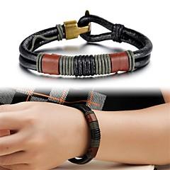 pulseira jóias homens couro moda criativa