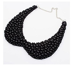 Black / White Collar Necklaces Imitation Pearl Party / Daily / Casual Jewelry