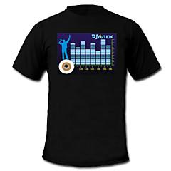 sonido y la música metros vu espectro activado el visualizador de t-shirt (2 * aaa)