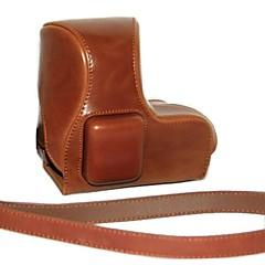 Pajiatu PU Leather Camera Protective Case Bag Cover for Sony NEX-5R NEX-5T NEX-5TL NEX-5RL NEX 5R 5T 18-55mm Long Lens