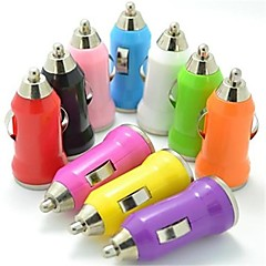 farverige mini usb bil oplader til iPod / iPhone 3G / 3GS / 4 / 4S / 5 / 5s m.fl.