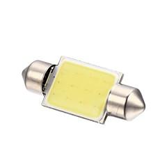 Merdia festón 2w mazorca 36mm 110lm 6000k 12SMD llevó la luz blanca fría de luz de la matrícula del coche de la lámpara / lectura - (2 piezas)