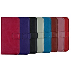 crazy carteira de couro de cavalo de corpo inteiro de couro do caso da aleta ficar tampa com suporte de cartão para o iphone 5 / 5s (cores