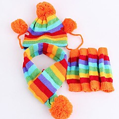 Fashion Three-piece Hat Scarf Pet Footr For Pet Dogs(Assorted Size)