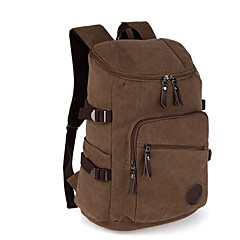 WOWANG Men 's Fashion High Quality Waterproof Canvas Outdoor Traveling Backpack Bag