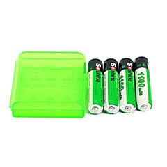 4pcs batterie rechargeable Soshine aaa 1100mah 1.2v Ni-MH + boîte