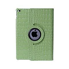 patrón de piel de cocodrilo pu estuche de cuero con soporte para iPad de aire 2