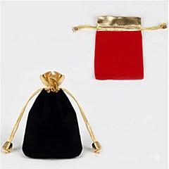 Bolsas de Joyas Tejido Negro / Rojo