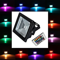 10W LED Floodlight 1 High Power LED 900 lm RGB Remote-Controlled AC 85-265 V