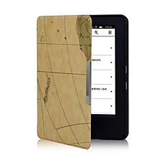 Shy Bear™ Map Leather Cover Case for Amazon New Kindle 2014 6 Inch Ereader Ebook
