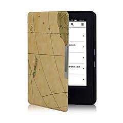 caso tímido cubierta del cuero del mapa oso ™ para el Amazonas nuevo enciende 2014 6 pulgadas ebook ereader