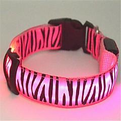 Koty / Psy Obroże Lampy LED / Zebra Red / Biały / Zielony / Niebieski / Różowy / Żółty Nylon