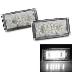 2szt 18 LED 3528 SMD numer tablicy rejestracyjnej białe światło dla BMW E46 2d