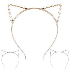 (1 Pc)Sweet Cat Ears Headbands for Women(Hualuo Jewelry)