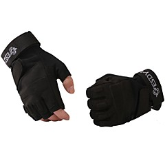 ESDY  Fingerless Military Tactical Airsoft Hunting Riding Game Outdoor Sports Gloves Black