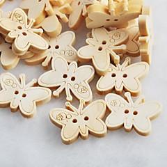 borboleta recados scraft costura botões de madeira diy (10 peças)