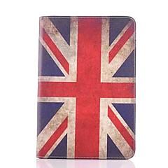británico de cuero patrón de la bandera caso de cuerpo completo para el mini iPad 3, iPad Mini 2, mini ipad